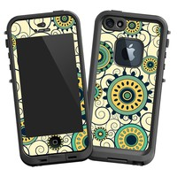 Swirls Yellow Lifeproof Case Skin for iPhone 5