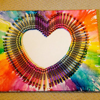 Melted Crayon Art - Rainbow Heart