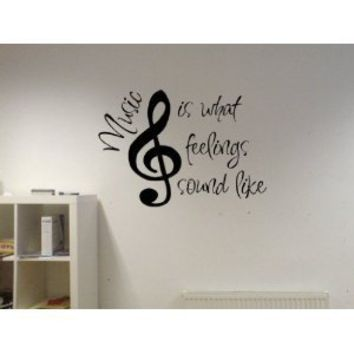 Amazon.com: Music Is What Feelings Sound Like Vinyl Wall Decal: Home & Kitchen