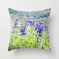 Wild Lupine Throw Pillow by Around the Island (Robin Epstein) | Society6