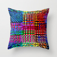 COLOUR EXPLOSION Throw Pillow by catspaws | Society6