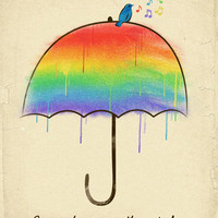Somewhere Over The Rainbow Art Print by Dan Elijah G. Fajardo | Society6