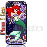 Kingdom Hearts Stained Glass Ariel Custom iPhone 5 Case Cover