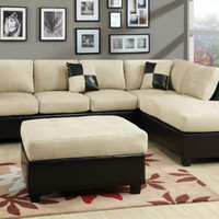 Sectional Sofa 3 pcs Sectional Couch in Microfiber Sectional sofas in 6 Colors
