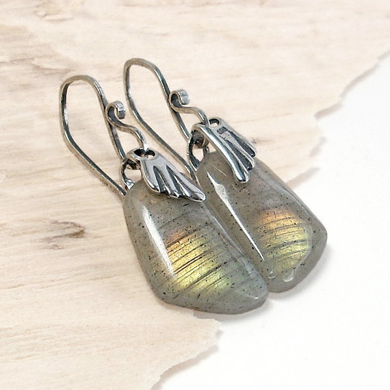 Rainbow Wings Labradorite and Sterling Silver by GothicGlitter