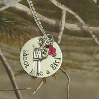 SHOOT LIKE a GIRL  Hand Stamped Necklace  by ExpressionsStamped