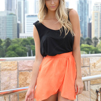 SABO SKIRT Wrap Shorts Orange