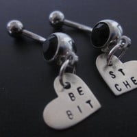 Best Bitches MATURE content belly button rings by ForeverStamped