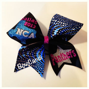 Panther's NCA Bow by BowCandi on Etsy