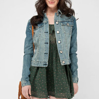 Cassidy Denim Jacket in Light Wash :: tobi