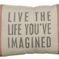 Live the Life - Linen Pillow ? French Beach House Decor &amp; Furniture