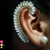 Crystal Stud Embellished Ear Cuff (Gold) - Shoes 4 U Las Vegas