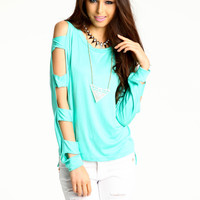 Lattice Dolman Tee