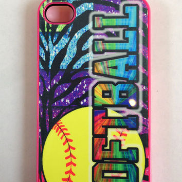 softball iphone 4/4s/5 case