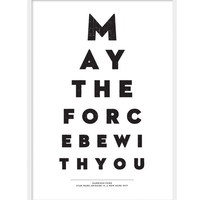 Star Wars May The Force Be With You A3 Movie Poster by BobsBits