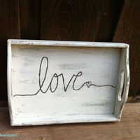 Country Distressed Love Tray