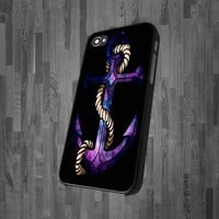 CA 0623 Anchor With Nebula design for iPhone 4 or 4s