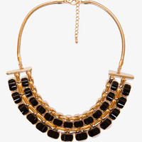 Lacquered Geo Bib Necklace