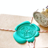 Custom Wax Seal Stamp - Initials Script x 1