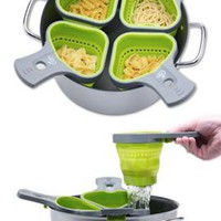 Portion Control Pasta Basket, Pasta Strainer, Pasta Measuring Tool | Solutions