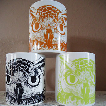 personalised name eagle owl mug by night owl | notonthehighstreet.com