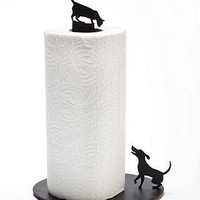 dog versus cat paper towel holder by living hq | notonthehighstreet.com