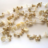 Beach Decor Shell Garland - Nautilus Sea Shell Garland - Featured on Sally Lee by the Sea