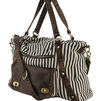 Railroad Stripe Satchel | FOREVER21 - 1000039534