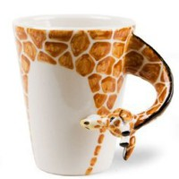 Giraffe Handmade Coffee Mug (10cm x 8cm): Kitchen & Dining