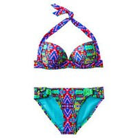 Xhilaration Junior&#x27;s 2-Piece Swimsuit -Geometric Print