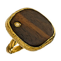 Max & Chloe - Gara Danielle Square Wood Ring - Max and Chloe