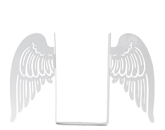 Bookends Angel wings laser cut for by DesignAtelierArticle on Etsy