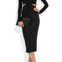 Haider Ackermann | Cutout stretch-jersey crepe dress | NET-A-PORTER.COM
