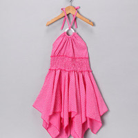 Bubblegum Diva - Pink Polka Dot Halter Dress - Girls | babies and kids