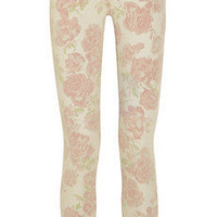 Current/Elliott | The Stiletto cropped printed low-rise skinny jeans | NET-A-PORTER.COM