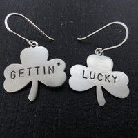 Gettin' Lucky Nickel Silver Clover Shamrock by SugarandSoySauce