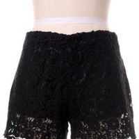 Beloved Lace Shorts in Black - New Arrivals - Retro, Indie and Unique Fashion