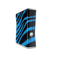 Amazon.com: Zebra Blue Decal Style Skin for XBOX 360 Slim Vertical (OEM Packaging): Everything Else