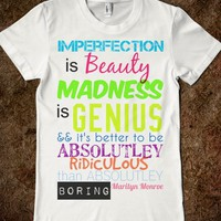 Better to be Ridiculous than boring marilyn monroe quote - Columbus Couture