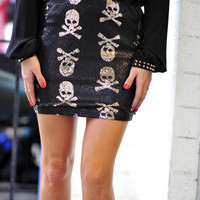 RESTOCK She's Fashion Forward Skull Skirt | Hope's