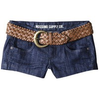 Target : Mossimo Supply Co. Juniors Belted Denim Short - Indigo : Image Zoom
