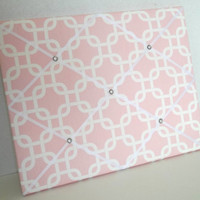 Bella Pink & White fabric ~ French Memo Board by ToileChicBoutique