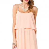 Venna Dress in Peach - ShopSosie.com
