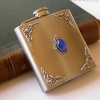 Stainless Steel Hip Flask by LeBoudoirNoir