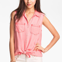 Rubbish® Sleeveless Workwear Shirt (Juniors) | Nordstrom