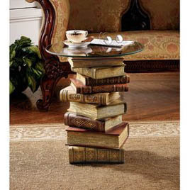 Power Of Books Side Table | Home Living | SkyMall