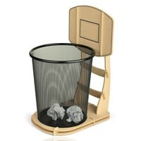 DIY Cool Basketball Stand Wastebasket