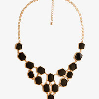 Lacquered Beehive Bib Necklace | FOREVER 21 - 1041970621