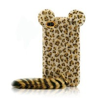Cute Leopard Print iPhone 4 & 4s Case with Panther Tail