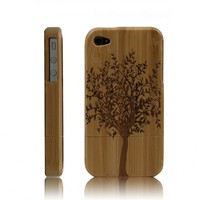 Eco-friendly Handcarved Bamboo iPhone 4 &amp; 4s Cases- A Big Tree